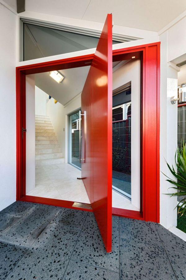 Bright-red-doorway