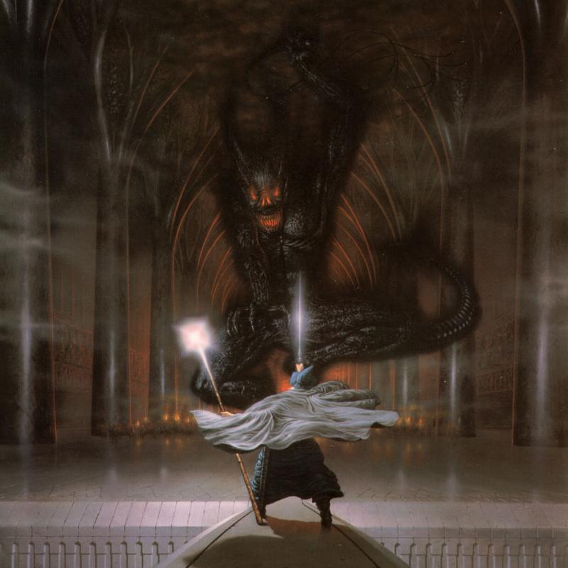 Alan Lee Gandalf em Moria