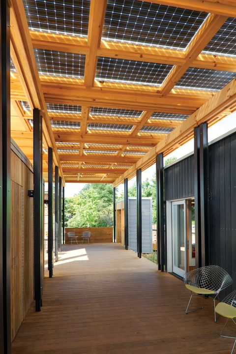 Energy Solar Decathlon show home solar panels -