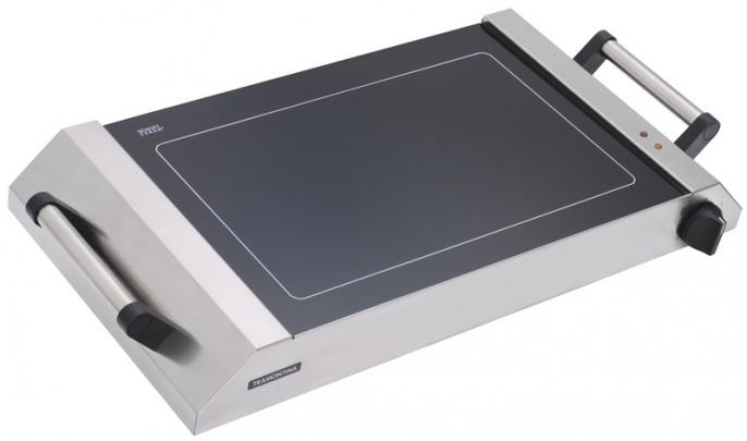 Amei esse Vitro Grill da Tramontina. Um cooktop portatil para cozinhar na sala, na varanda, sei lá. Em torno de R$ 1.800,00