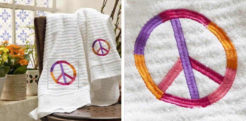Jogo de banho Paz, Alfaias