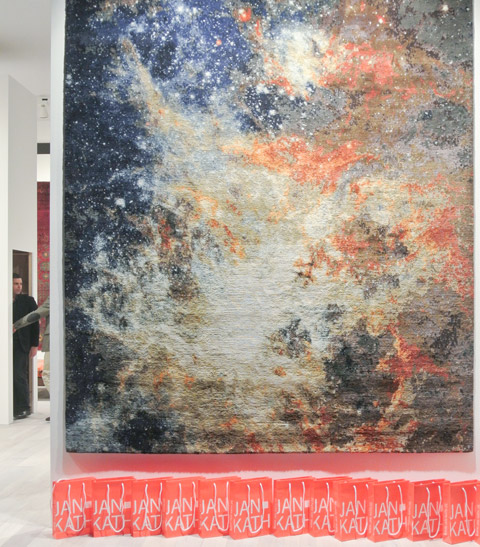 "A carpet as a mirror of cosmic constellations: from Jan Kath's collection ""Spacecrafted"".  Photo © Thomas Wagner, Stylepark"