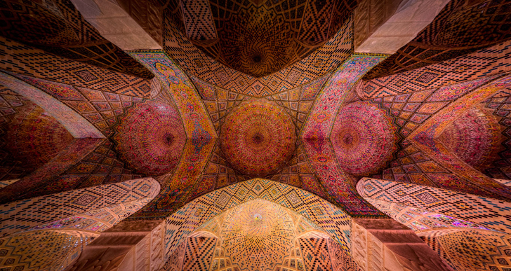 Ceiling of Nasir al-mulk mosque