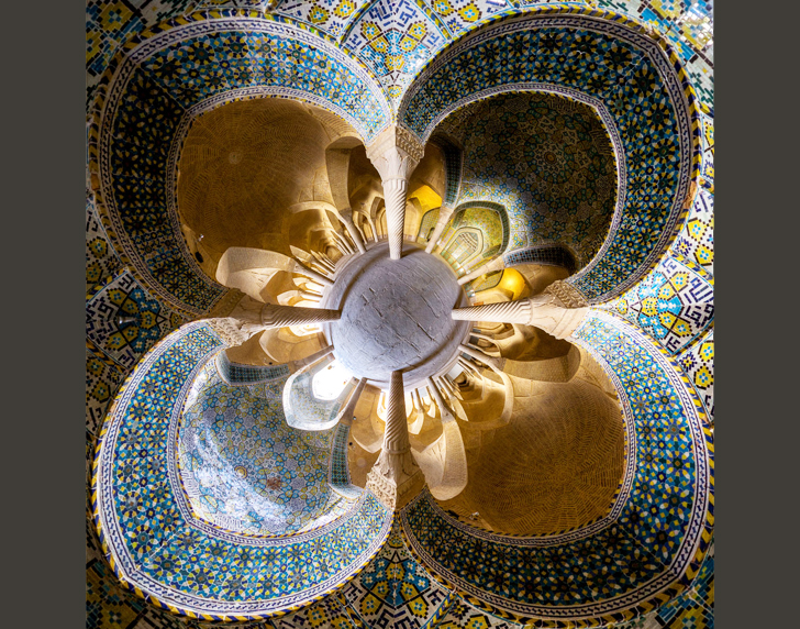 6Vakil-mosque-Shiraz-little-planet-view