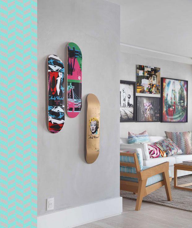 Skate na parede