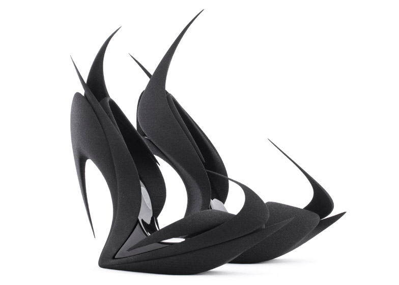 Flames by Zaha Hadid_para United Nude shoes