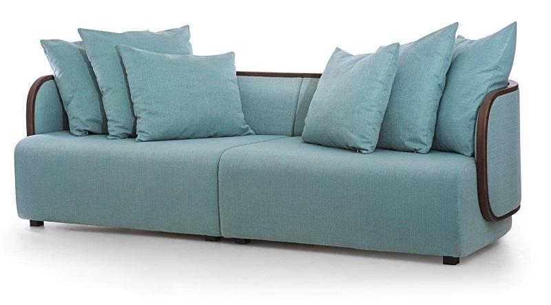 O sofá Concha assinado pelo Estúdio Nada se Leva dos designers André Bastos e Guilherme Leite Ribeiro