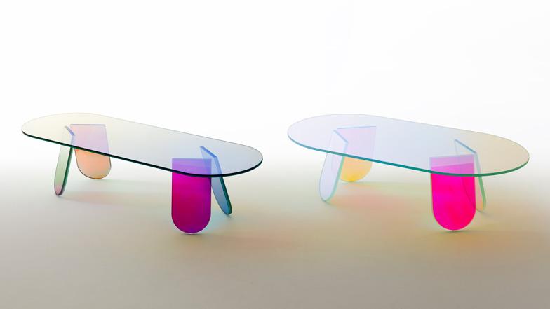 Patricia Urquiola -Shimmer tables para Glas Italia