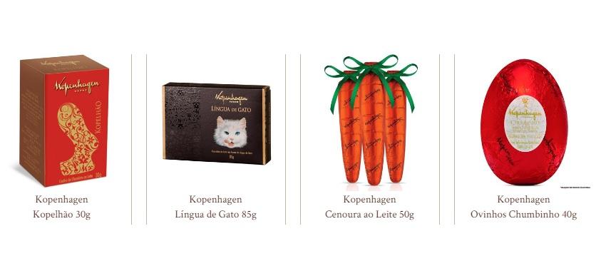 Os tradicionais chocolates da Kopenhagen, claro!
