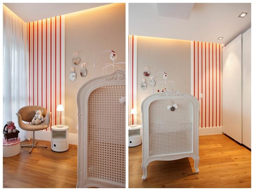 QUARTO DA BEBÊ Berço: Provence Piso: Orlean Papel de parede: Orlean Assessórios/Objetos: RZ Bambine e BK Home