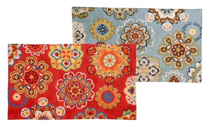 Tapete modelo Flower Wool em algoão e lã com 160x230cm por 1.968 reais na BALAI - foto 2