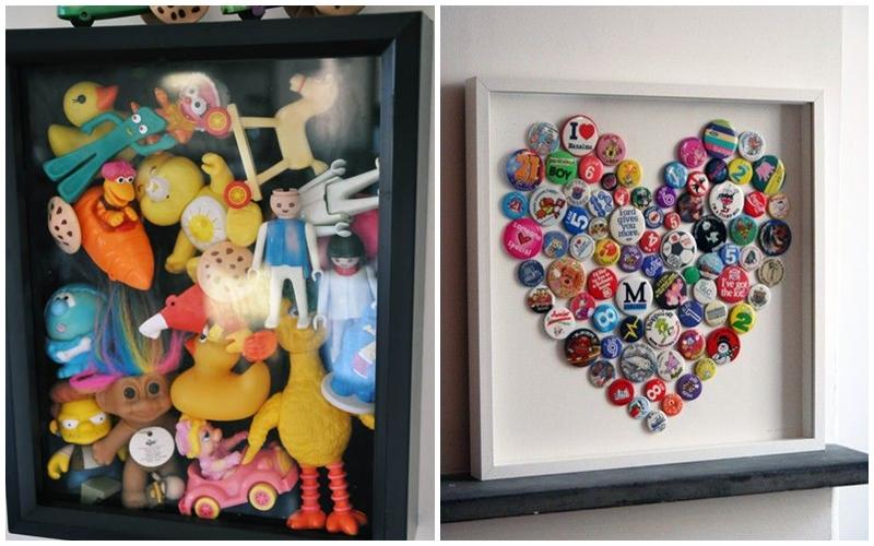 Brinquedos da infância ou bottons da adolescência