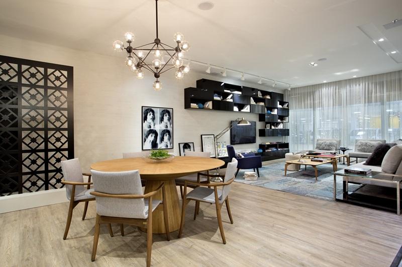 Living do Casal Moderno assinado pela arquiteta Jacira Pinheiro na 1-¬ edi+º+úo carioca da Mostra Sierra - foto 1