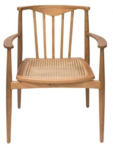 Finish _ Cadeira Triumph, com encosto em madeira torneada e assento em palha sextavada. De R$ 2 590 por R$ 1 918 à vista