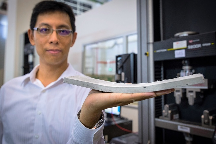 Asst Prof Yang En-Hua and the Bendable Concrete