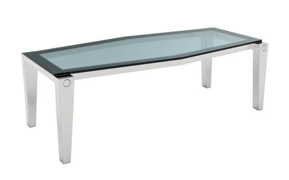Coleção Mesa de Jantar Lapa Dimensões: 250x110x80cm Material: Aço inox e vidro