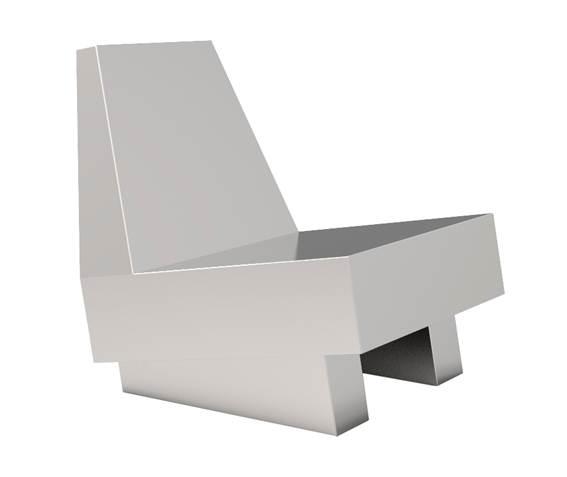 Poltrona Esqui Dimensões: 78x60x72cm Material: Aço inox