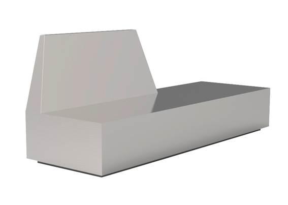 Banco Trape Dimensões: 200x66x82cm Material: Aço inox