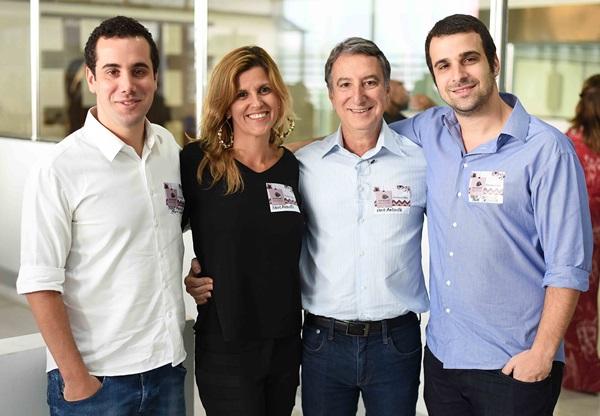 Bruno Crosman, Barbara Maciel, Salomao Crosman e Paulo Crosman