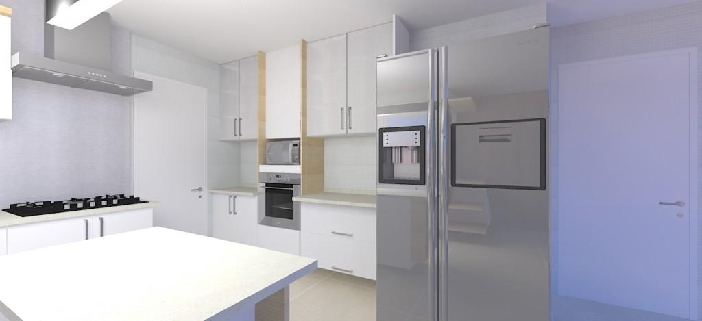 cozinha vista para o geladeira