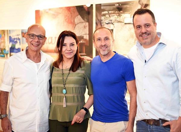 Caco Borges, Rosa Maria Tavares, Denilson Machado e Nicolas Delfino