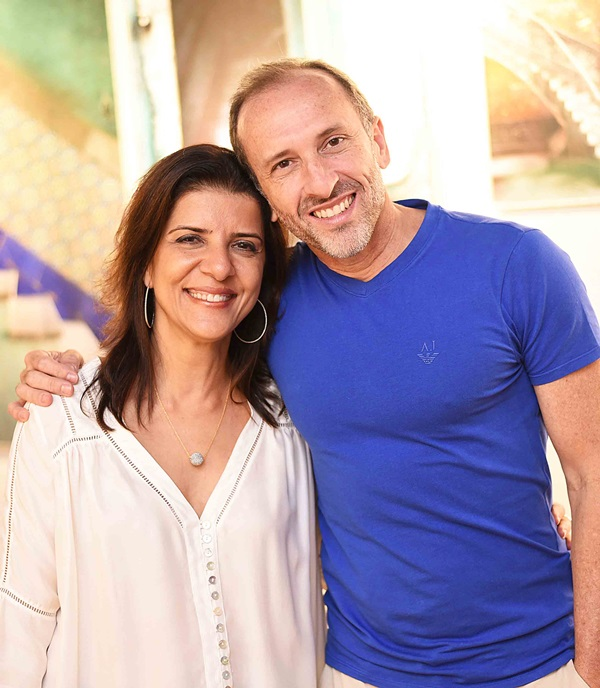Cristina Bezamat e Denilson Machado