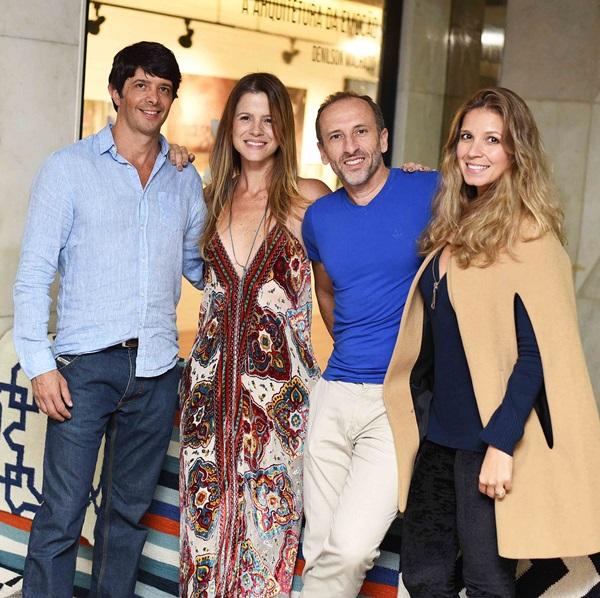 Felipe Niemeyer e Larissa Allemand Denilson Machado e Aline Araujo