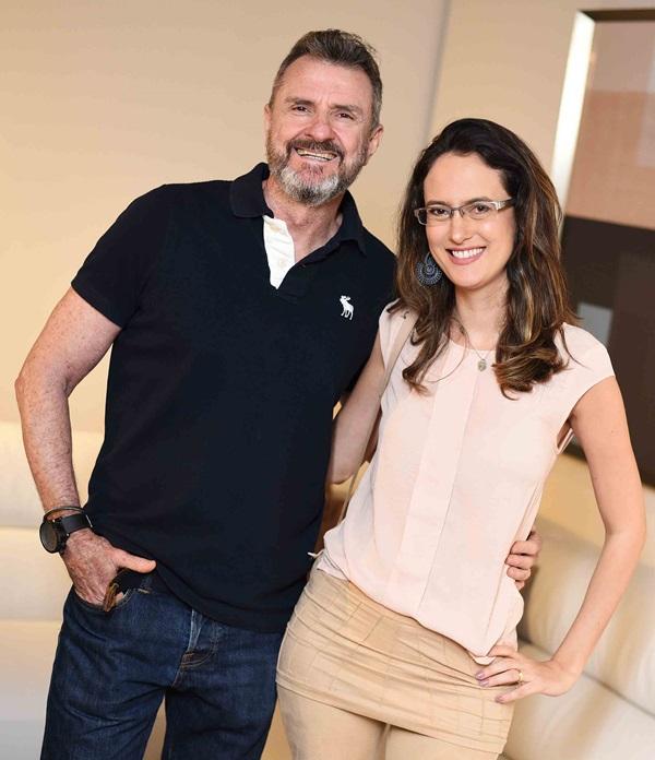 Paulo Guedes e Camila Fleck
