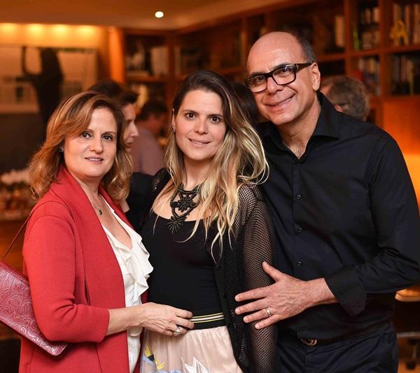 Katia, Paloma e Arnaldo Danemberg
