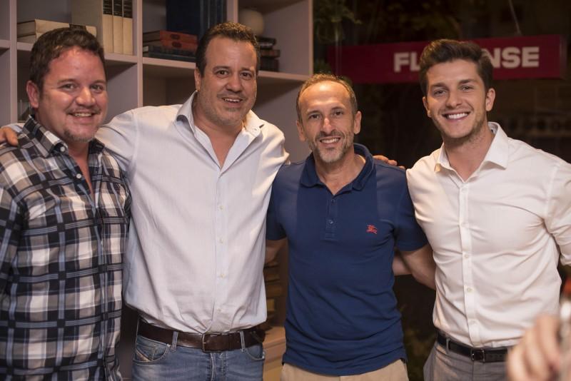 João Pedro Scheliga, Nicolas Delfino, Denilson Machado e Klebber Toledo
