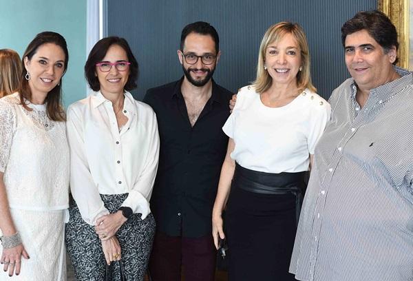 Esther Schattan, Gisele Taranto ,Rafael Pessanha, Anette Rivkind e Antonio Neves da Rocha