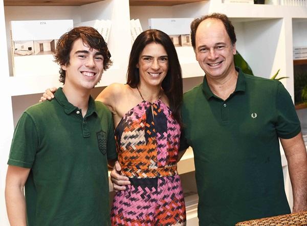 Pedro, Vanessa e Eduardo Borges