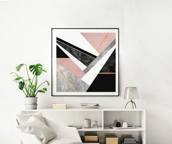 Arte LINES AND LAYERS 1 de Elisabeth Fredriksson impressa em canvas com 90x90cm por 1.219 reais na URBAN ARTS