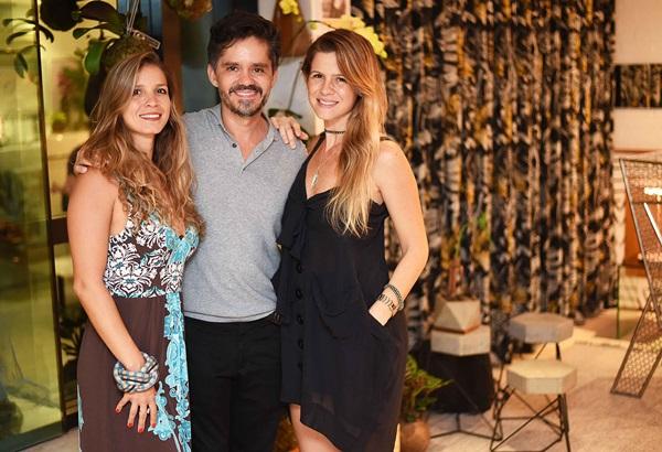 Aline Araujo, Ricardo Melo e Larissa Allemand