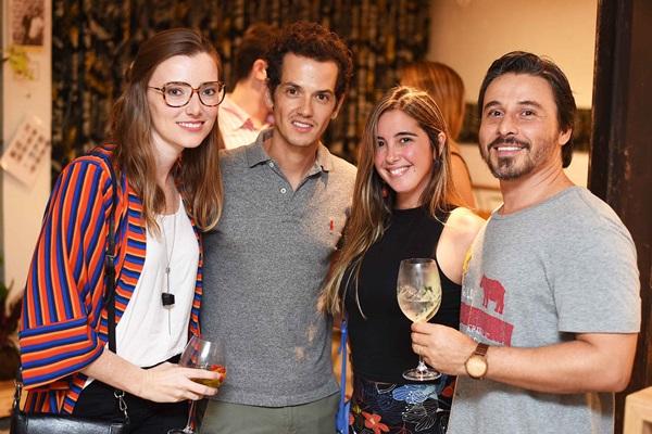 Claudia Strutz, Alexandre Serrano, Andrea Bevilaqua e Alexandre Montenegro
