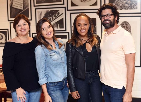 Andrea Zeitune, Monique Pampolha, Hannah Cabral e Guilherme Portugal