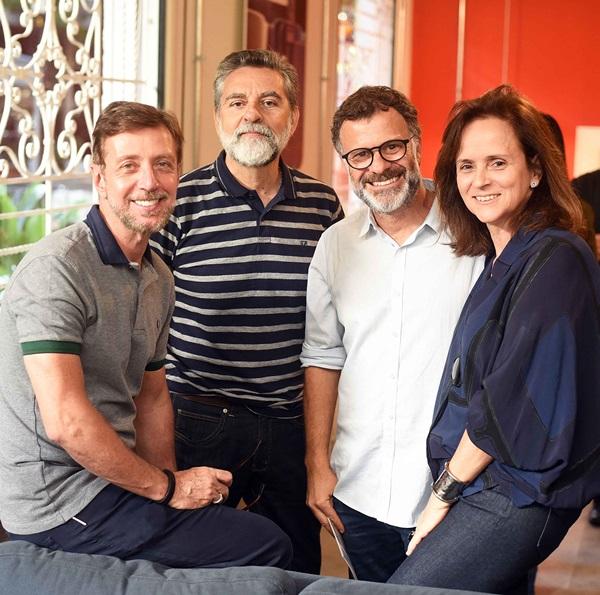 Nando Grabowsky, Ivan Rezende, Beto Figueiredo e Patricia Quentel