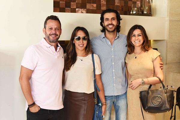 Andre Serra, Andressa Fonseca, Artur Fernandes e Amanda Ambrosio
