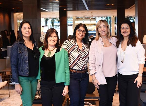 Michele Ferreira, Evangelina Campos, Jussara Olivetti, Anette Rivkind e Marcia Morelli