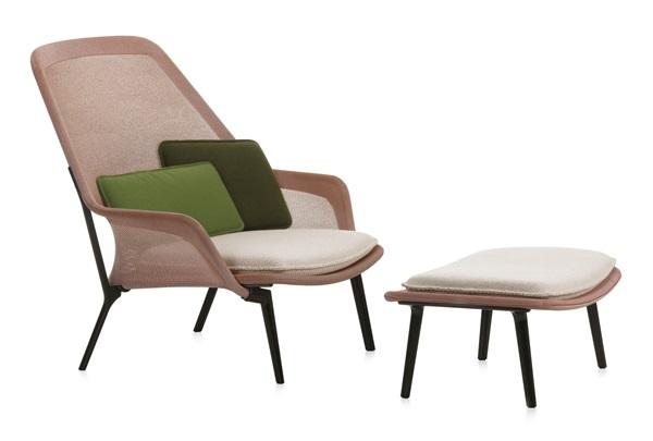 Moiré entfernt Slow Chair three- quarter view red Design: Ronan & Erwan Bouroullec, 2006