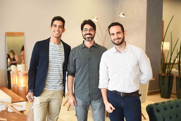 Avner Posner, Julio Vicente e Jorge Vasconcelos