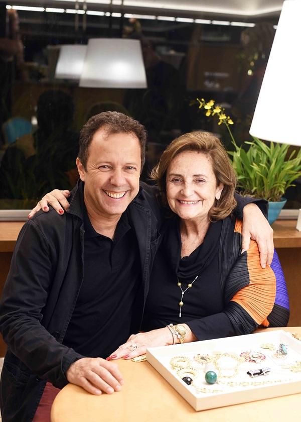Vik Muniz e Lucinha Araujo