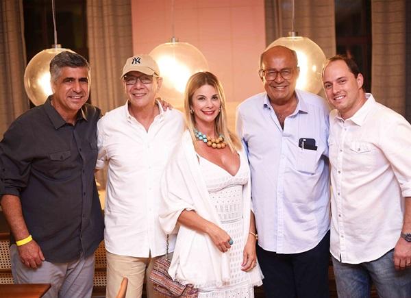 Wagner Lofare, Carla Pimente,l Caco Borges Heitor Derbli e Bruno Carone
