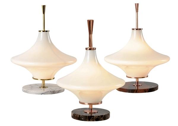 Linha de luminárias de mesa Docc assinada pelo designer Jader Almeida