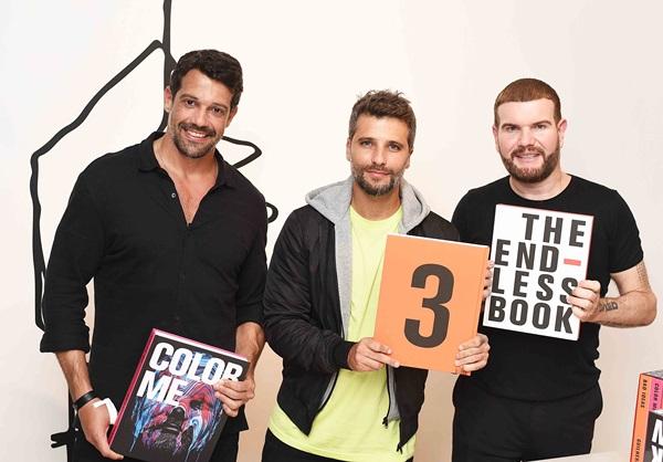 Alexandre Pazzini ,Bruno Gagliasso e Guilherme Torres