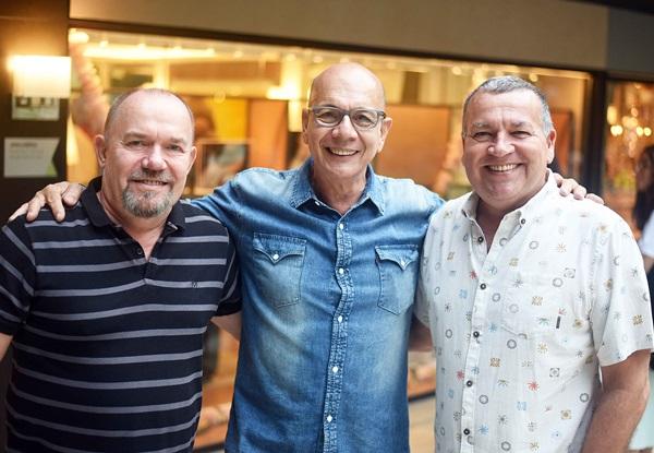 Carlos Hansen, Caco Borges e Magno Salgueiro