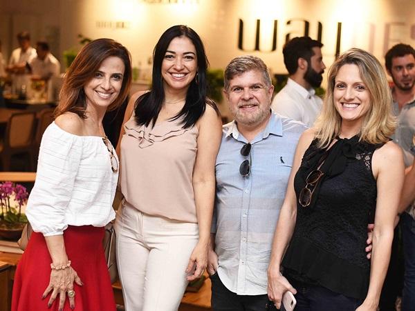 Elaine Campos ,Cristina Cortes ,Anderson Macedo e Fernanda Mancini