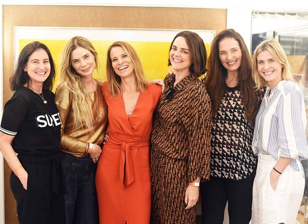 Patricia Barros, Alexia Dechamps, Carla Barros, Andrea Muller, Adriana Mattoso e Alessandra Brito