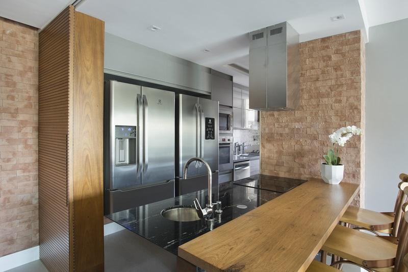 Primeiro pavimento _ cozinha gourmet em-ilha aberta para a sala