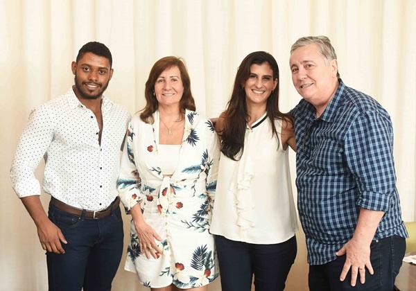 Raphael Lima Jacqueline Marinho Paula Muller e Adolfo Fuzinatto